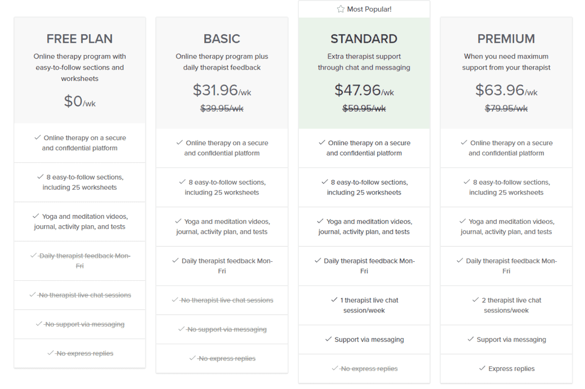 online-therapy.com pricing